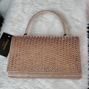 NWT D'margeaux rose gold champagne purse